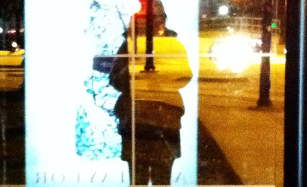 reflection through glass